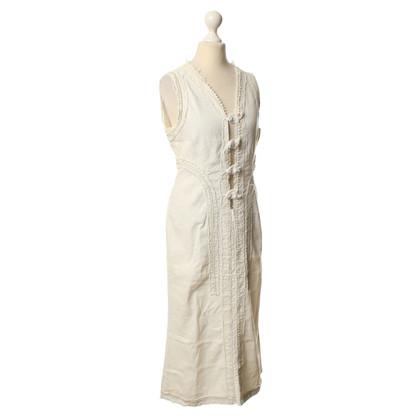 Hache Kleid in Weiß mit Fransen