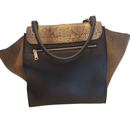 Céline Trapezium Bag Python