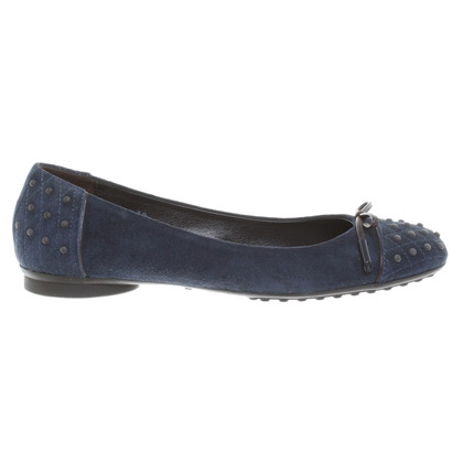Tod's Ballerina's Blue-Suede
