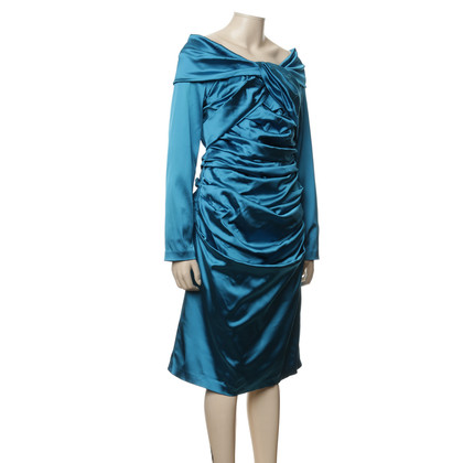 Talbot Runhof Evening dress petrol colored