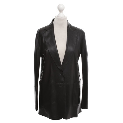 Armani Leather blazer in black