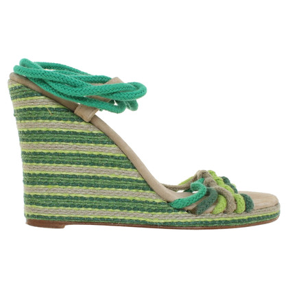 Marc Jacobs Wedge sandals in shades of green