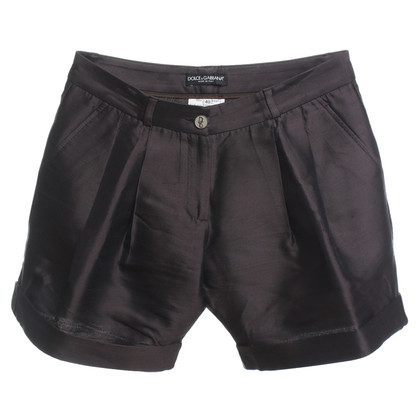 Dolce & Gabbana Shorts di seta in Brown