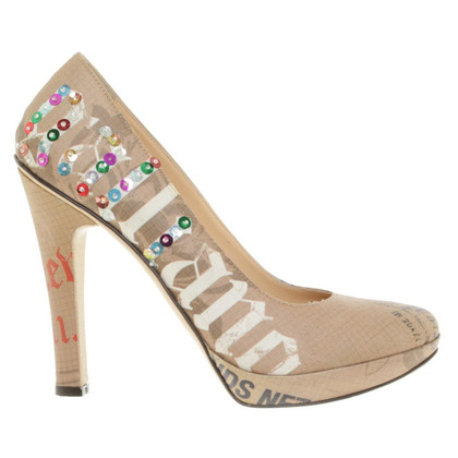 John Galliano pumps with coloured print