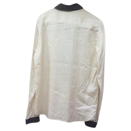 Prada Zijden blouse met gestreept patroon