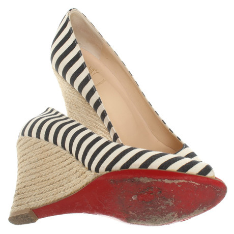 Louboutin Christian mit Muster Bunt Wedges Louboutin Christian Streifenmuster FFwOqUnz