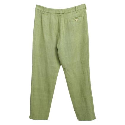 Prada pantaloni di seta in verde