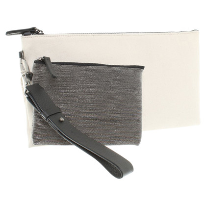 Brunello Cucinelli clutch di canvas