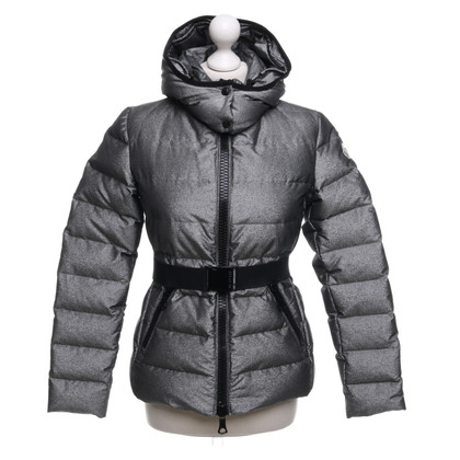 Moncler Silver-colored quilted jacket