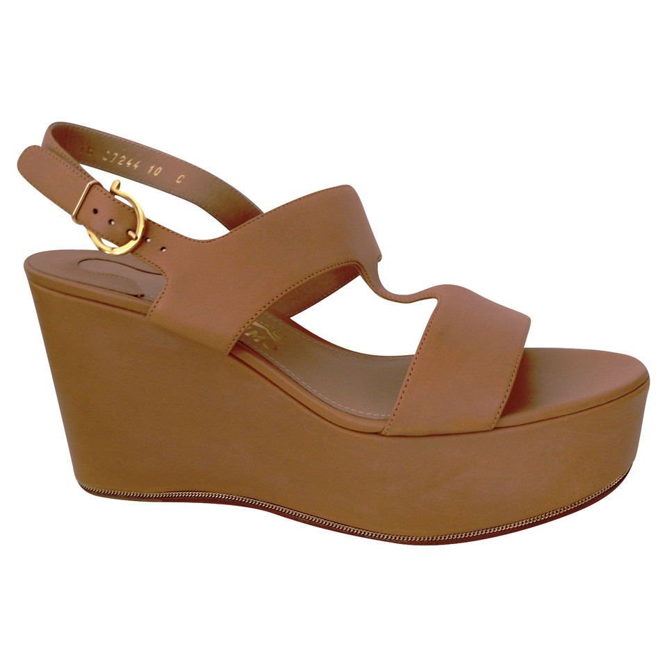 Salvatore Ferragamo Leather wedges
