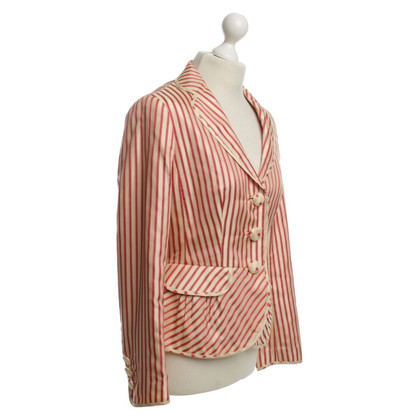 Rena Lange Seta Blazer in Red / Beige