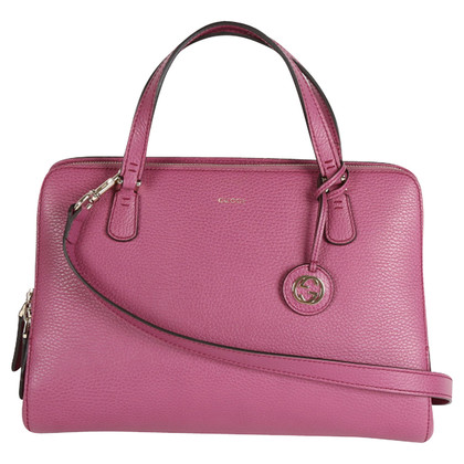 Gucci Pink Leather Tote Bag
