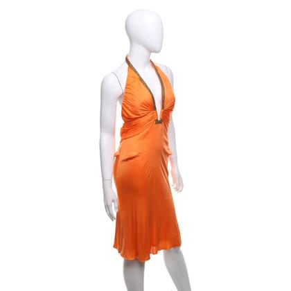 Roberto Cavalli Halternek jurk in oranje