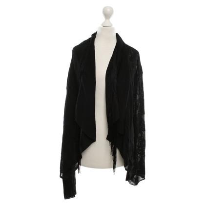 Roberto Cavalli Fringe Vest in zwart
