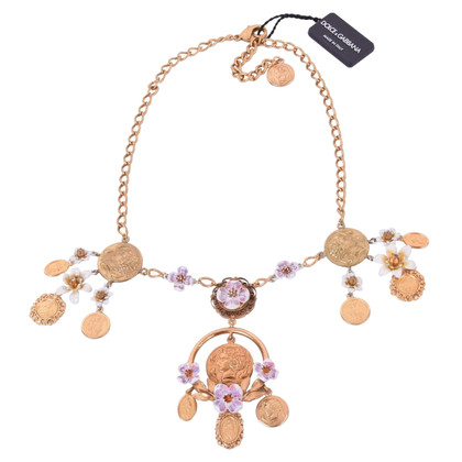Dolce & Gabbana Monete e collana di fiori
