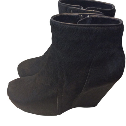 Rick Owens Ankle boots with fur trim