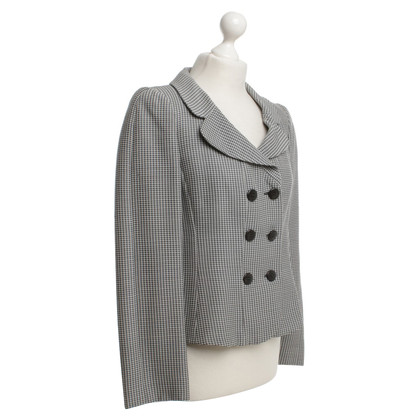 Armani Collezioni Short blazer with pattern