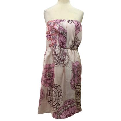 Tibi Strapless zijden jurk