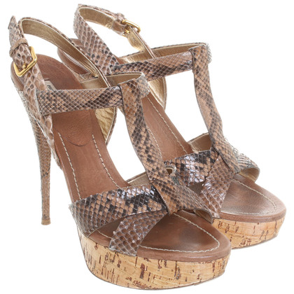 Miu Miu Sandalette aus Python-Leder