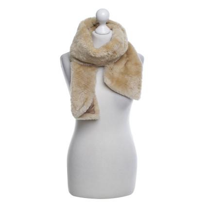 Jil Sander Bont sjaal in beige