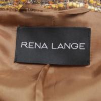 Rena Lange Bouclé-Blazer in Braun/Orange/Curry