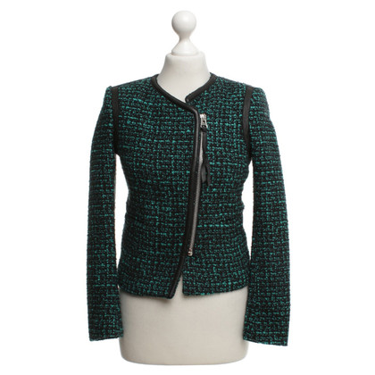 Sandro Bouclé jacket in black / green