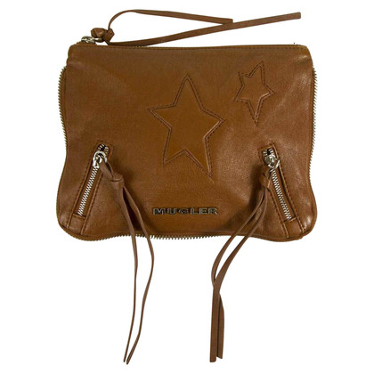 Mugler Tan Brown clutch