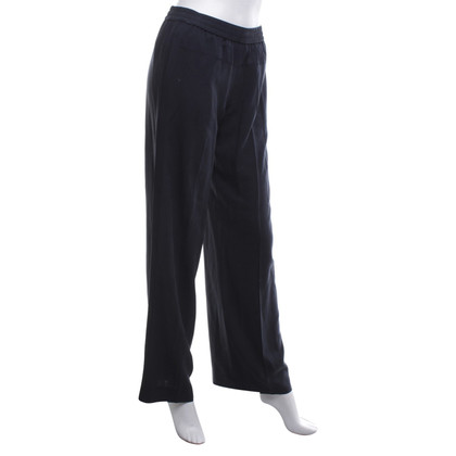 Vince pantaloni di seta in blu scuro