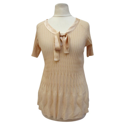 Christian Dior Pleated sweater with ribbons