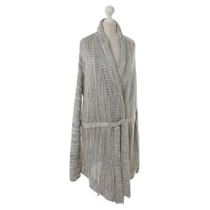 Malo Wrap Cardigan in chunky knit