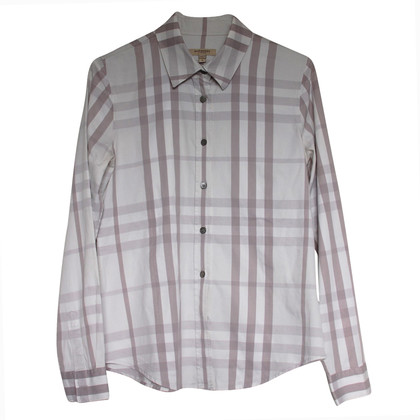Burberry geruite blouse
