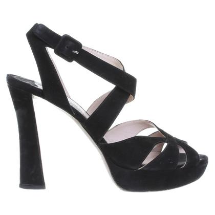 Miu Miu Sandaletten in Schwarz
