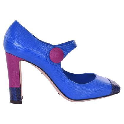 Dolce & Gabbana Mary Jane Pumps in Blau