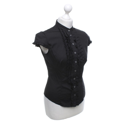 Karen Millen Black blouse with ruffles