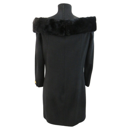 Rena Lange Shoulder-free dress with real fur
