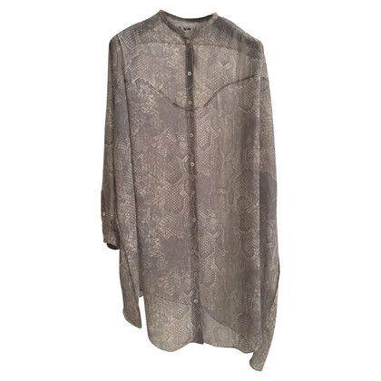 Acne Blouse dress with snake print
