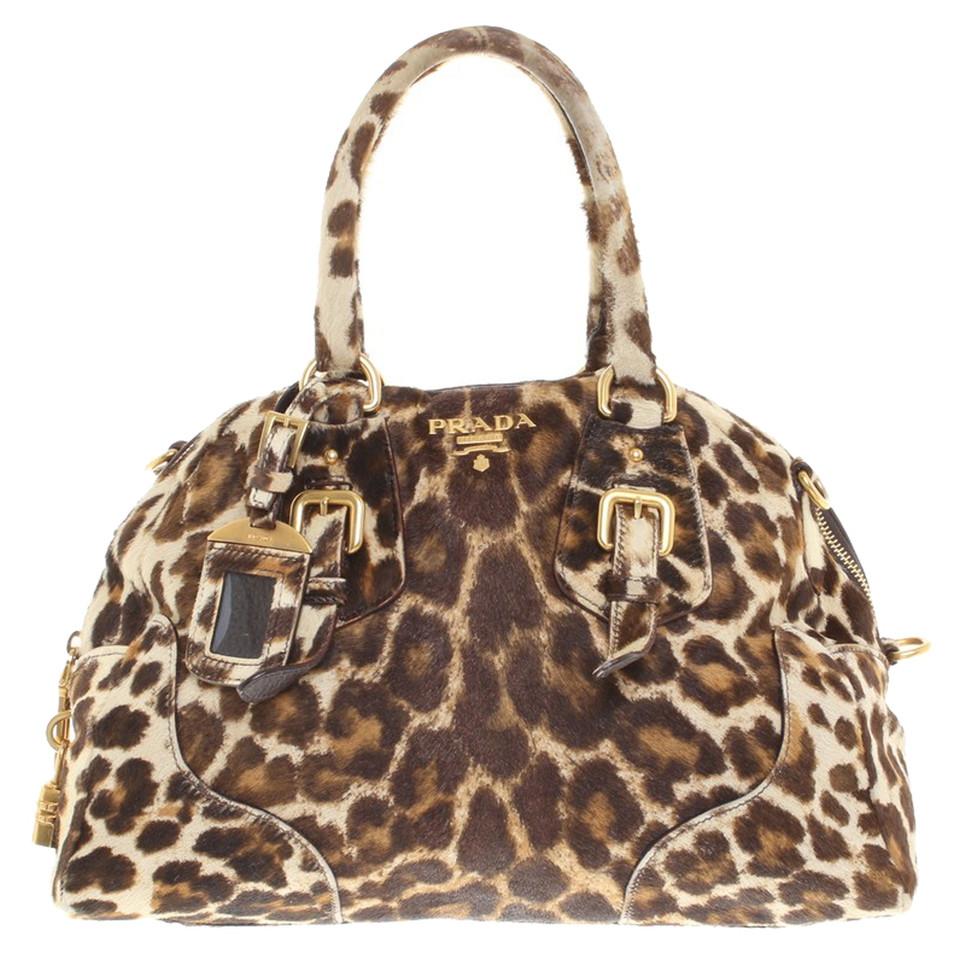 prada handtasche mit leoparden muster second hand prada handtasche mit leoparden muster. Black Bedroom Furniture Sets. Home Design Ideas