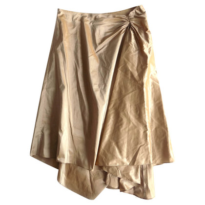 Max Mara Silk skirt in gold