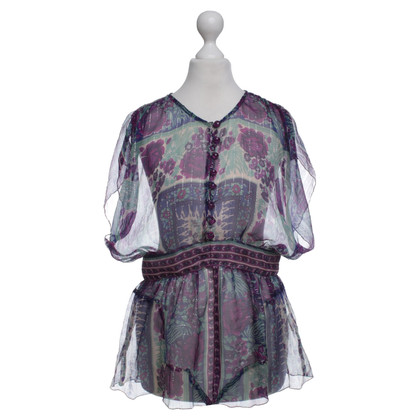 Anna Sui top with colorful patterns