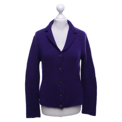 Iris von Arnim Cardigan in viola scuro