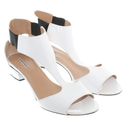 Armani Patent leather sandals in White