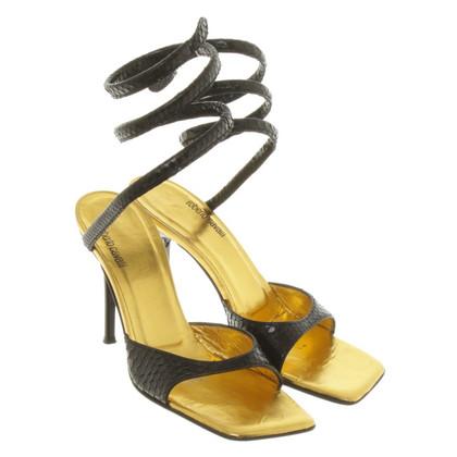 Roberto Cavalli Sandals with snakeskin