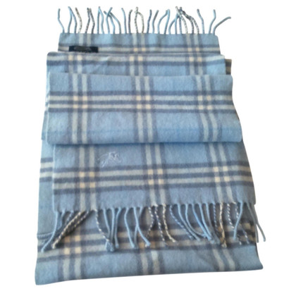 Burberry Baby Blue Wool Scarf