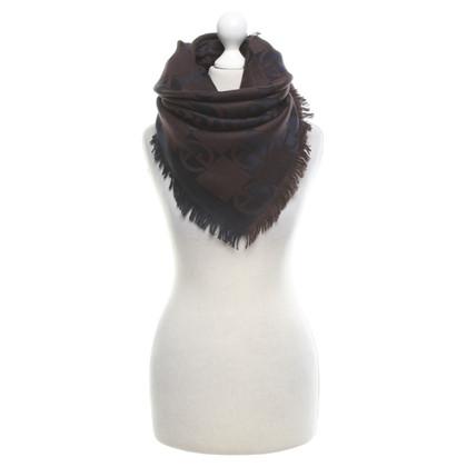 Giorgio Armani Wool scarf in brown / blue