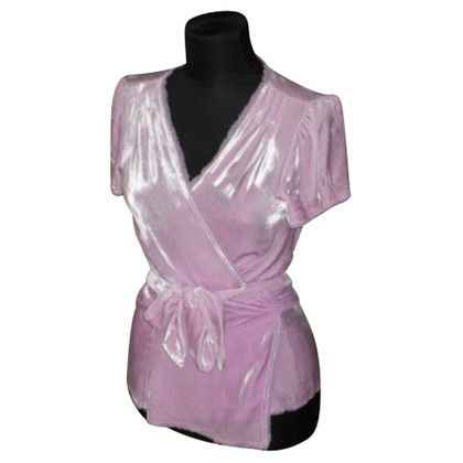 Diane von Furstenberg Wrap blouse made of velvet