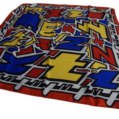 Kenzo Zijden sjaal met print