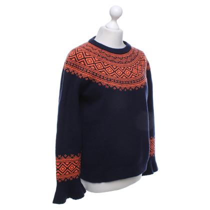 J. Crew Sweater in navy blue / orange