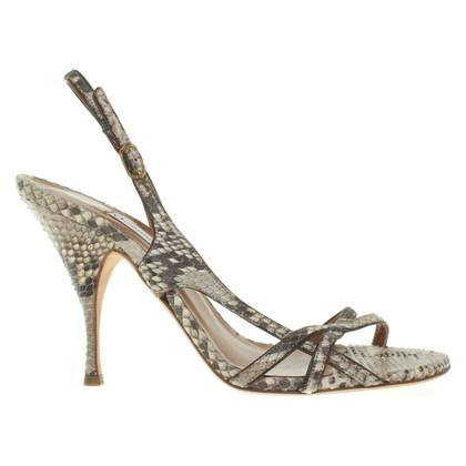 L'autre Chose Sandals made of python leather