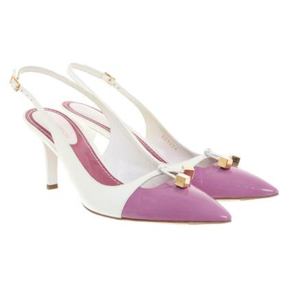 Louis Vuitton pumps in white-purple