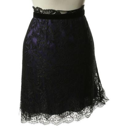 D&G Lace rok in zwart en violet